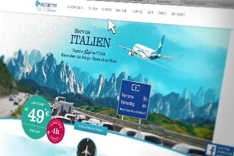 AirDolomiti Website Mockup